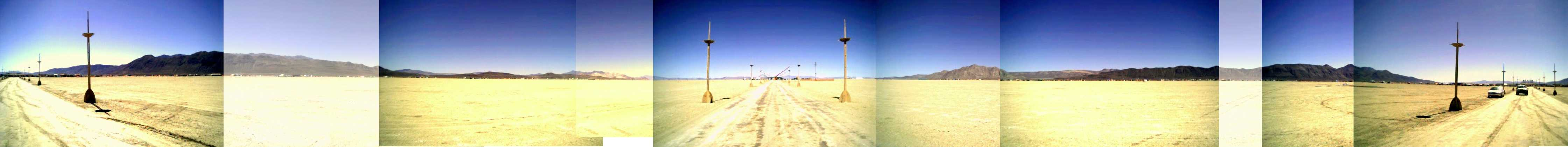 Panaroma of promenade, Burning Man 2004