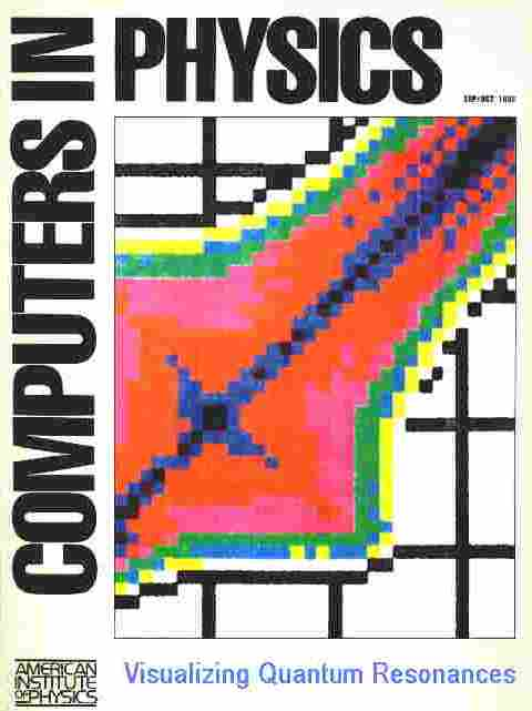 "Quantum chaos article by Marshall Burns on cover of ""Computers in Physics,"" 1992"